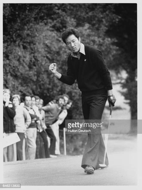 Japanese Golfer Isao Aoki playing in the Colgate World Match Play Championships at Wentworth in 1978