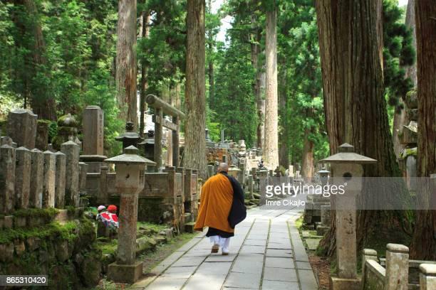 japanische friedhof - koyasan stock-fotos und bilder