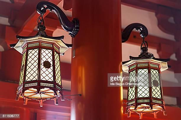 Japanese Hanging Lantern Inside Asakusa Kannon Tem