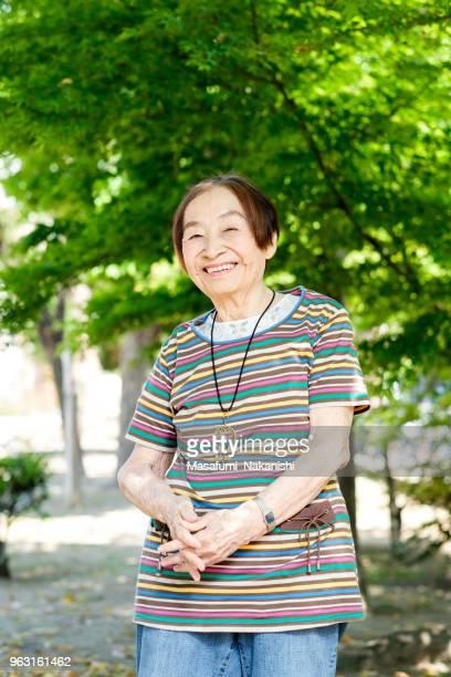 Japanese happy senior portrait