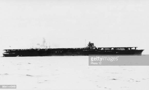 Japanese heavy combat aircraft carrier Zuikaku 194142 Built by the Nagasaki shipyards of the Kawasaki industrial group completed on September 25 it...