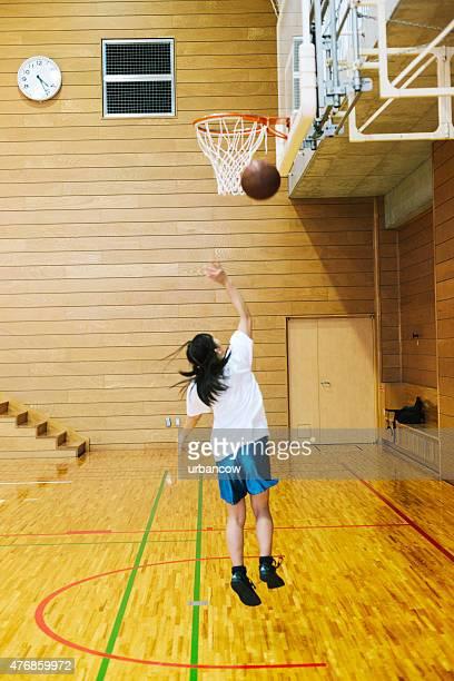 日本の高校ます。の体育館。射撃のフープ
