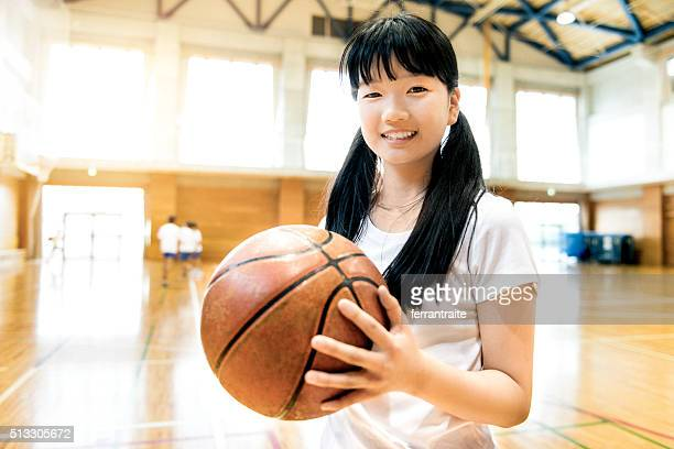 Japanese High School Female Basketball Player