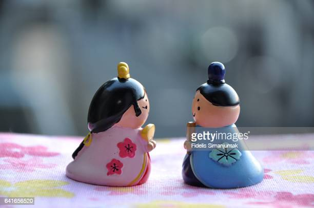 japanese hinamatsuri emperor and empress doll - hinamatsuri stock pictures, royalty-free photos & images