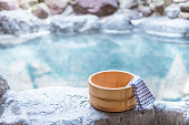 Japanese hot spring, open-air bath