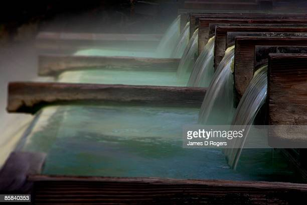 japanese hot springs - hot spring stock pictures, royalty-free photos & images