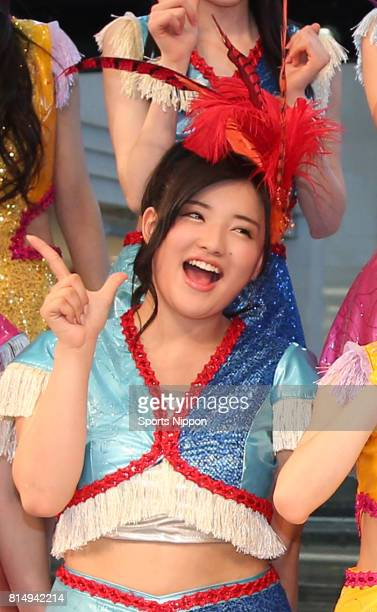Japanese idol Kanon Suzuki attends Morning Musume 16 event at Sunshine City on May 11 2016 in Tokyo Japan