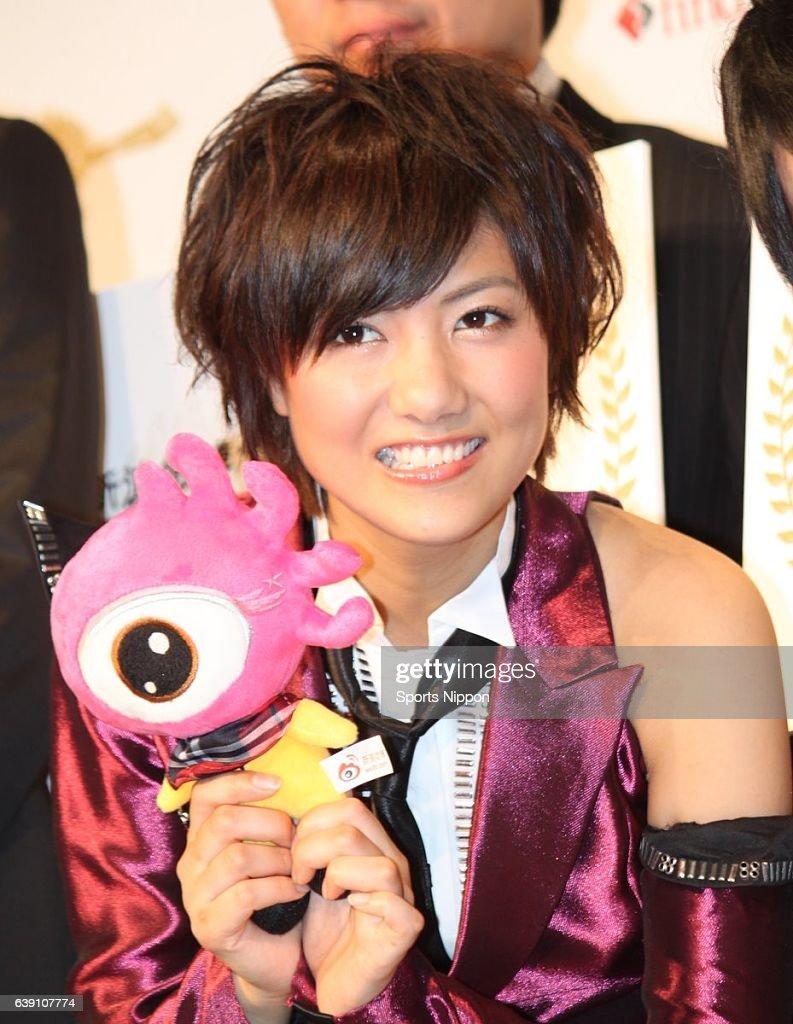 Sae Miyazawa Attends Press Conference In Tokyo : ニュース写真
