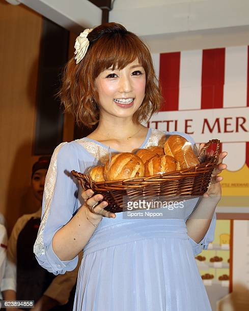 Japanese idol Yuko Ogura attends 'Mama Fes 2012 Autumn' on October 5 2012 in Tokyo Japan