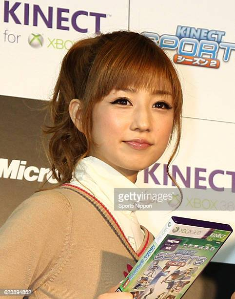 Japanese idol Yuko Ogura attends promotional event of Xbox 360 Kinect on October 25 2011 in Tokyo Japan