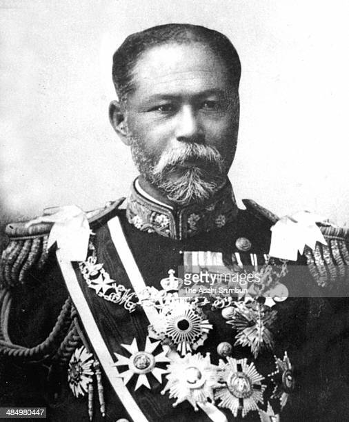Japanese Imperial Navy Admiral Gonnohyoe Yamamoto or Gonbe Yamamoto is seen circa 1905 in Japan Yamamoto was two time Prime Minister of Japan 16th...