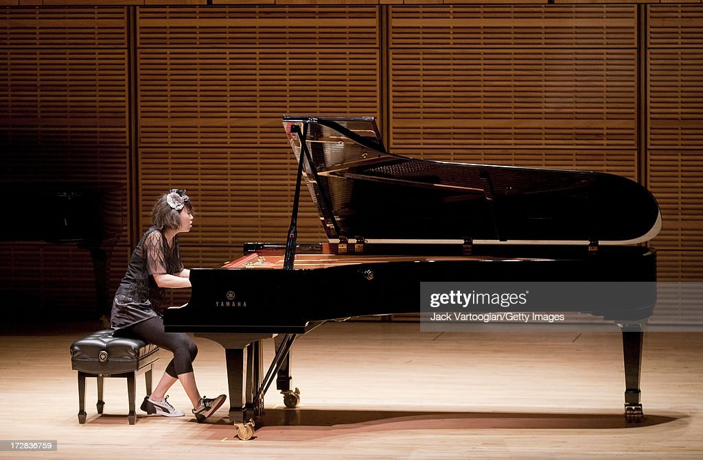 Japanese jazz musician Hiromi Uehara (who performs as Hiromi) plays a solo piano concert as part of the 'Just Jazz: The Joyce Wein Series' at Carnegie Hall's Zankel Hall, New York, New York, December 3, 2009.