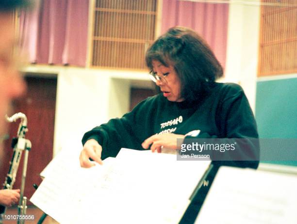 Japanese jazz musicianToshiko Akiyoshi at The Radiohouse with The Danish Radio Big Band Copenhagen 2001