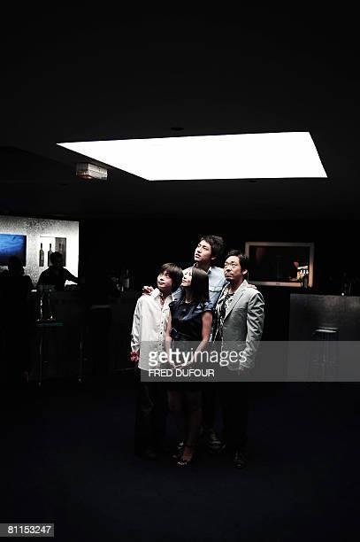 Japanese Kai Inowaki Haruka Igawa Yu Koyanagi and Teruyuki Kagawa pose for a photocall for director Kiyoshi Korosawa's film 'Tokyo Sonat' at the 61st...