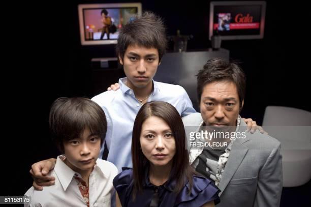 Japanese Kai Inowaki Yu Koyanagi Haruka Igawa and Teruyuki Kagawa pose for a photocall for director Kiyoshi Korosawa's film 'Tokyo Sonat' at the 61st...