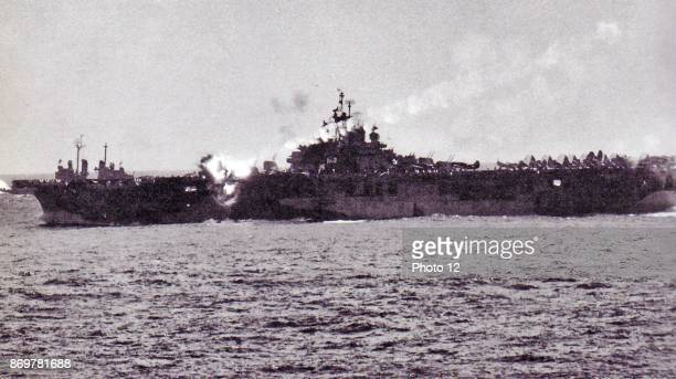 Japanese kamikaze pilot crashes into the USS Essex 1944 USS Essex was an aircraft carrier the lead ship of the 24ship Essex class built for the...