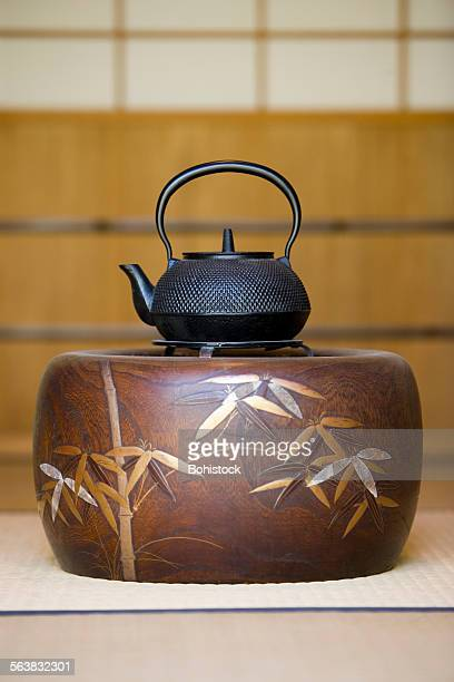 Japanese kettle in a tea house