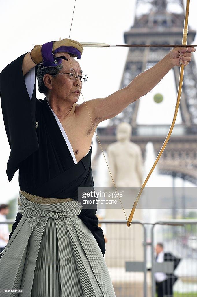 FRANCE-JAPAN-ARCHERY-KYUDO : Nachrichtenfoto