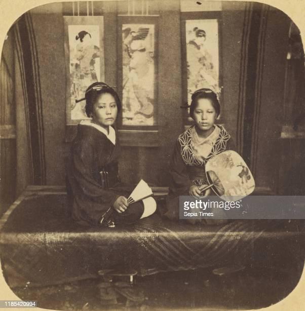 Japanese Ladies in Full Dress Winter Costume Pierre Joseph Rossier Negretti Zambra 1858Ð1859 Albumen silver print