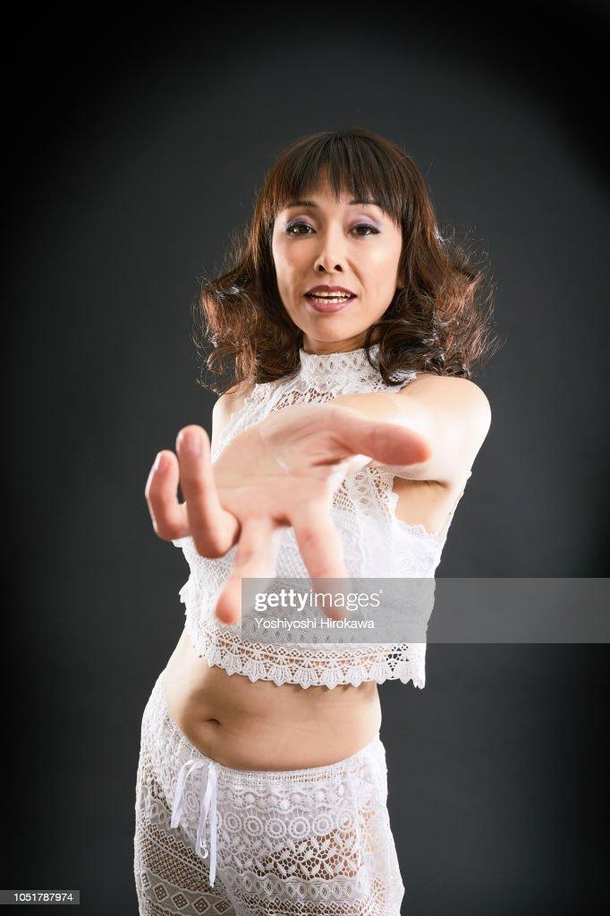 Japanese ladies to sing : Stock Photo