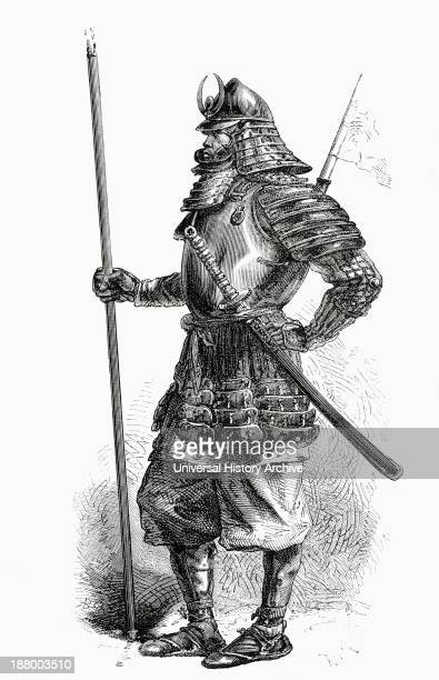 A Japanese Lancer From The Shogun's Troops In Full Armour In The 19Th Century From El Mundo En La Mano Published 1875
