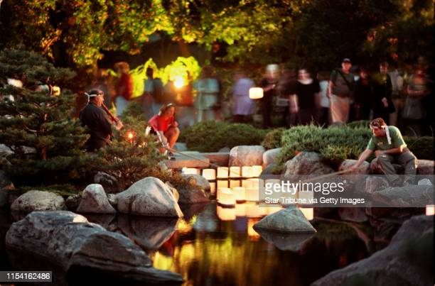 Japanese Lantern Lighting Festival Como Park Sunday August 20 2000 IN THIS PHOTO Sunday_08/20/00_StPaul The Japanese Lantern Lighting Festival...