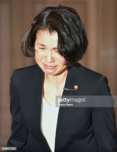 Japanese lawmaker Mayuko Toyota heads to a meeting in her electoral constituency in Saitama Prefecture near Tokyo on Sept 18 to apologize over...