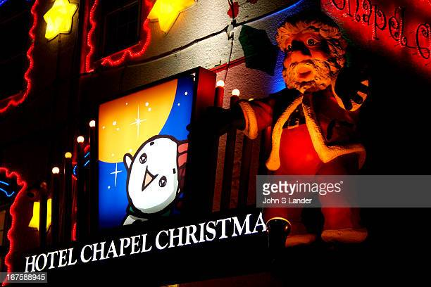 Japanese love hotels always have one kind of theme or another The Hotel Chapel Christmas' theme is Christmas or perhaps Santa Christmas has romantic...