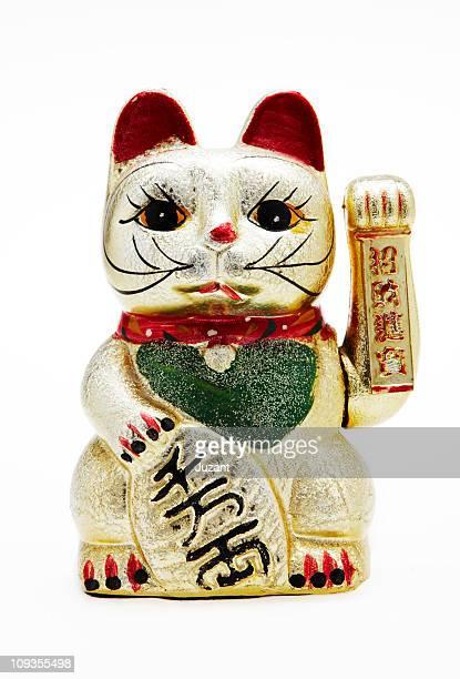 japanese lucky cat: maneki neko - maneki neko stock photos and pictures