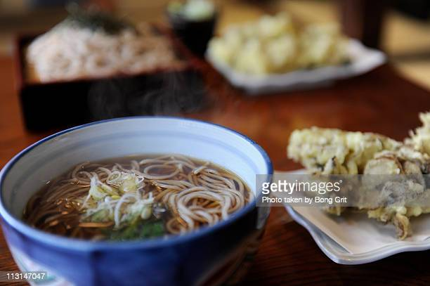 japanese lunch - soba stock pictures, royalty-free photos & images