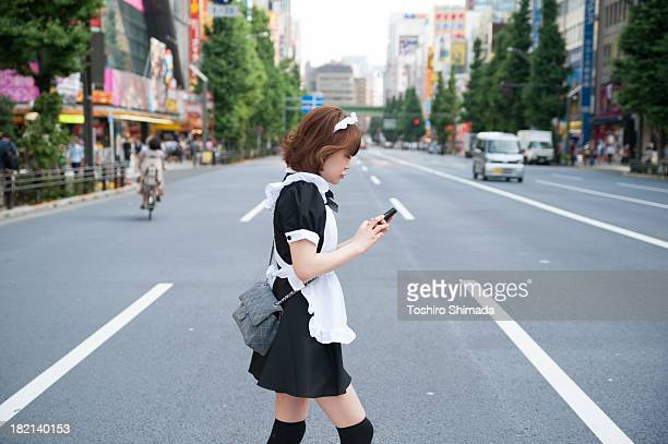 Japanese maid in Akihabara, Tokyo