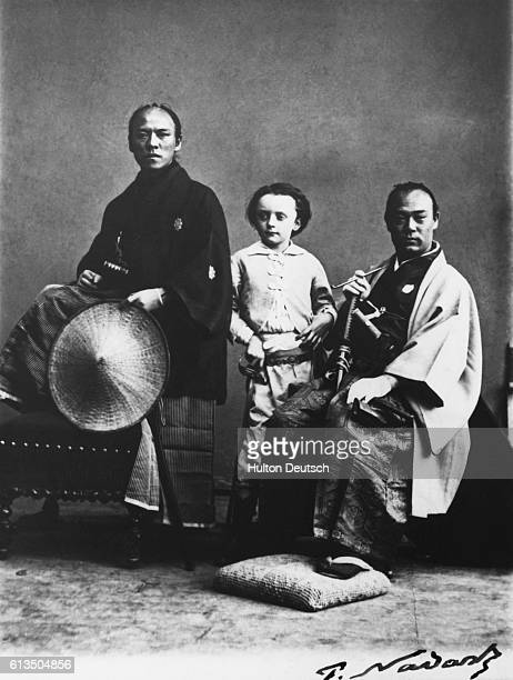 Japanese male group photographed by Nadar in Paris circa 1866 French photographer Nadar is noted for his outstanding photographs mostly portraits...