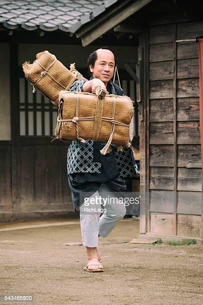 日本の男性江戸の町 - edo period ストックフォトと画像