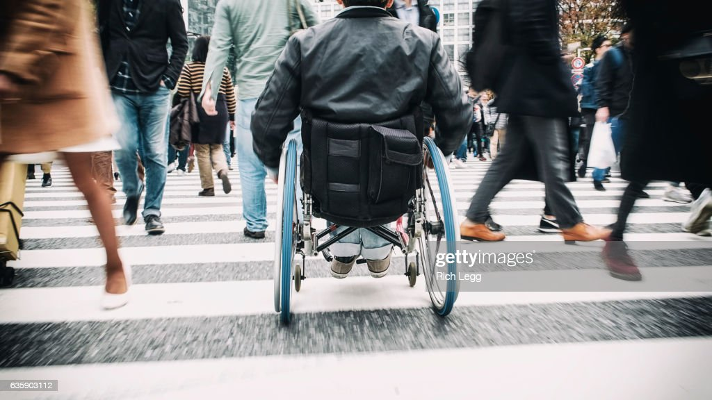 Japanese Man in Wheelchair : ストックフォト