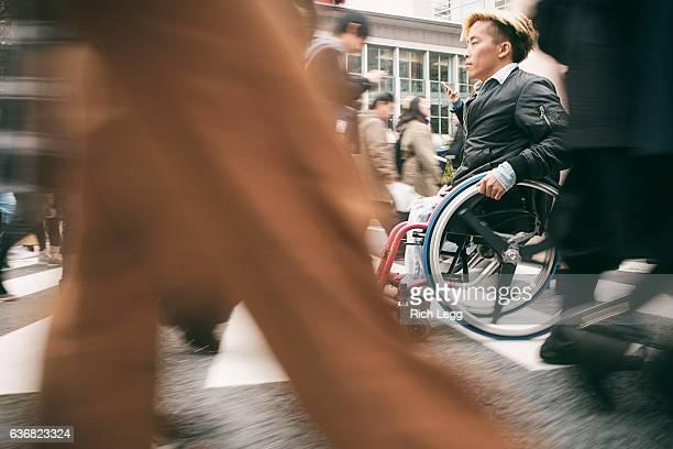 Japanese Man in Wheelchair