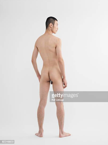 Japanese man looking side, nude