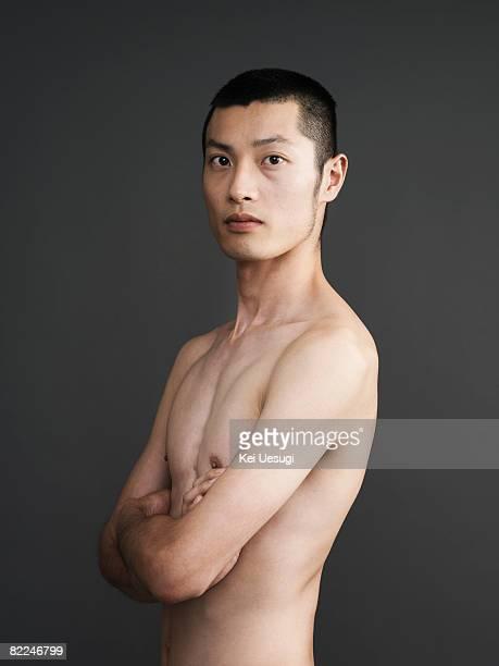 Japanese man nude, studio