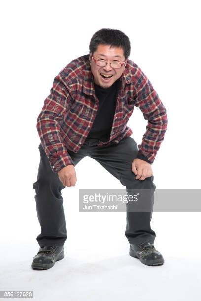Japanese man on white back ground