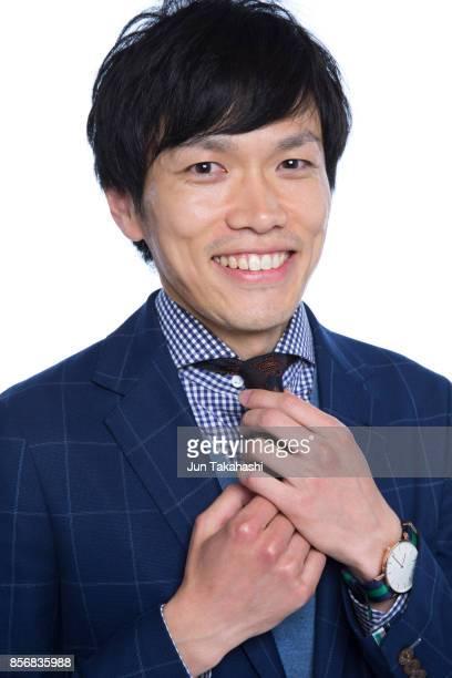 Japanese man on white back ground