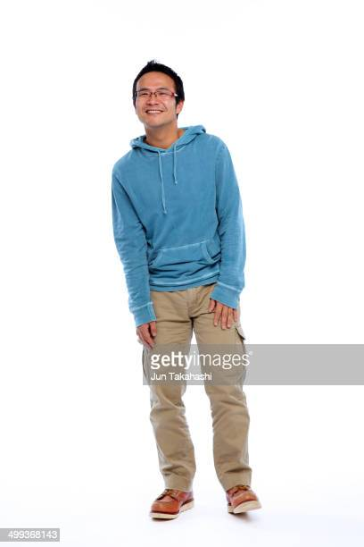 japanese man - beige pants stock photos and pictures