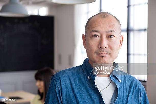 日本男性のポートレート