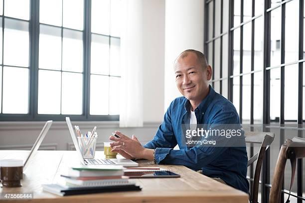 Homme portrait japonais