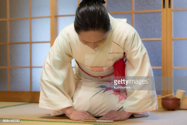 japanese manners - social grace stock pictures, royalty-free photos & images