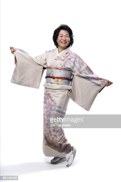 Japanese mature woman looking at camera
