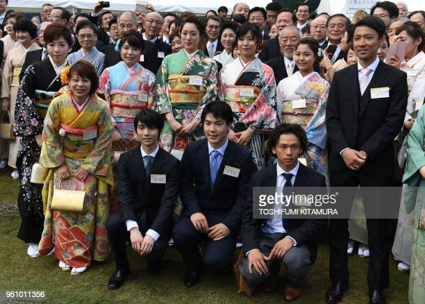 Japanese medallists from the Pyeongchang Winter Olympic Games Nana Takagi Yuzuru Hanyu Daichi Hara Ayumu Hirano and Akito Watabe Nao Kodaira Ayano...