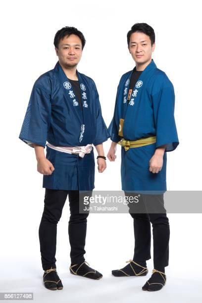 Japanese men on white back ground