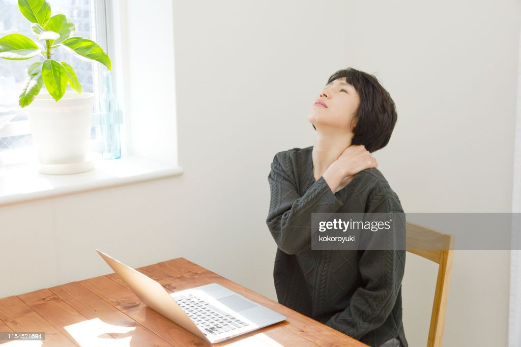 Japanese middle age woman : Stock Photo
