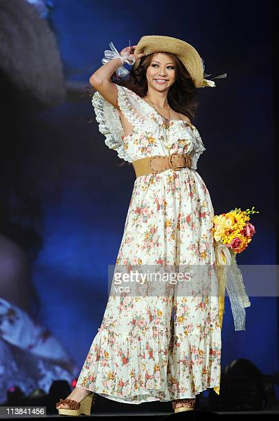 Japanese model Karina walks the runway at the TGC Girls Collection 2011 at MasterCard Center on May 7 2011 in Beijing China