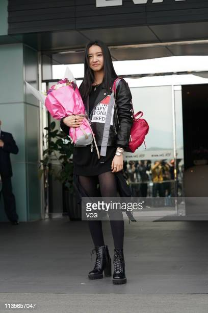 Japanese model Koki arrives at an airport on March 13 2019 in Taipei Taiwan of China