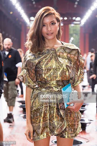 Japanese model Rola attends the Kenzo show at 'Cite du Cinema' of SaintDenis as part of the Paris Fashion Week Womenswear Spring/Summer 2014 on...